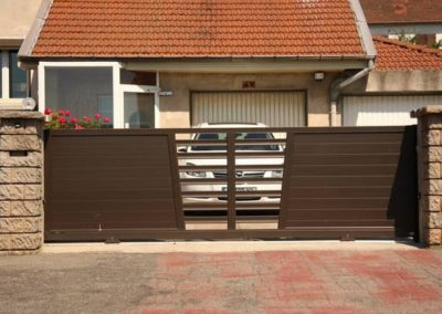 installation portail aluminium Firminy